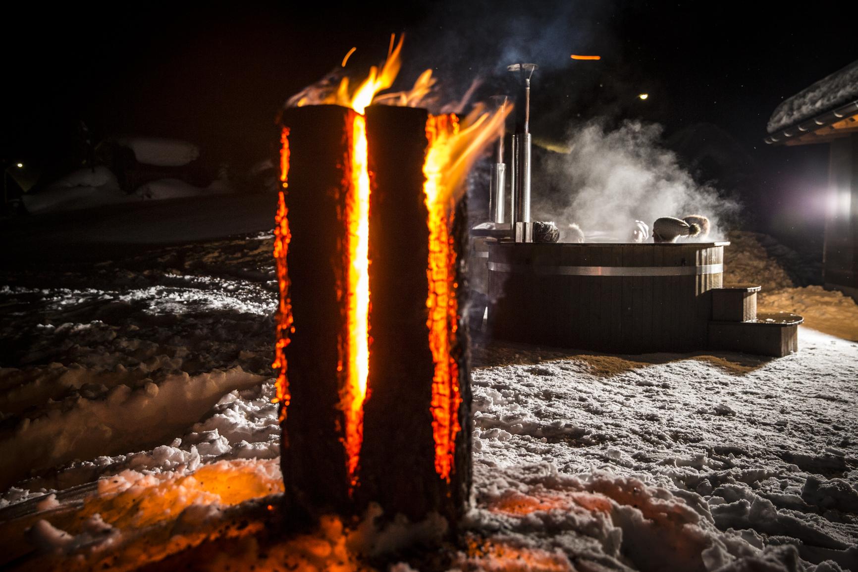 Angebot-Feuer und Eis-Hotpot-Göscheneralp